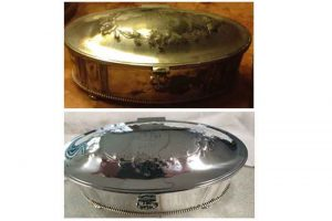 resilver antique tray